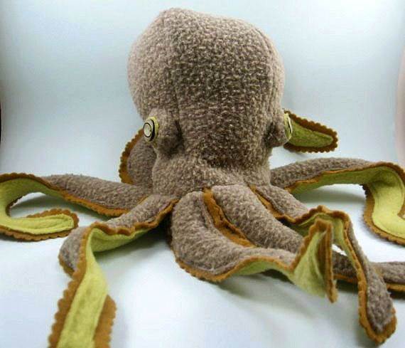 Plush Octopus by Jenny Tiffany, via Behance | 8 tentacules | Pinterest