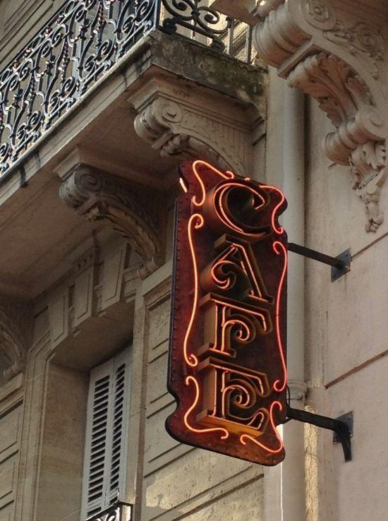 Cafe sign on the Left Bank-FleaingFrance