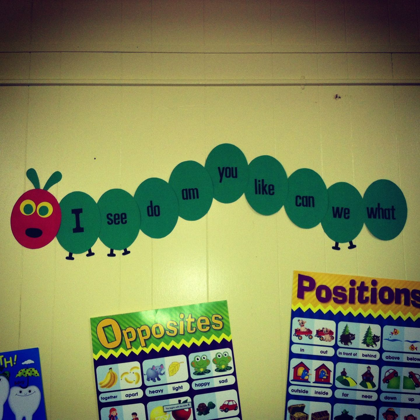 The Very Hungry Caterpillar word wall | Kindergarten Adventures ...