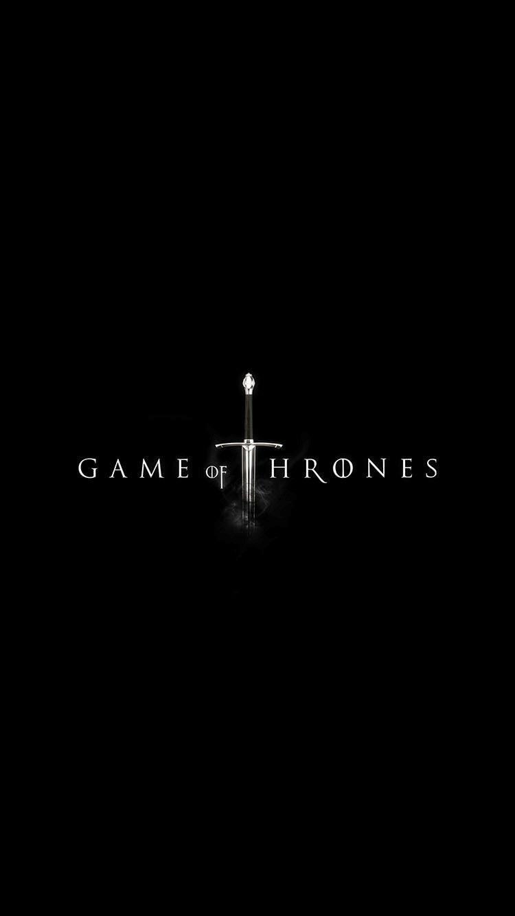 Download Game Of Thrones Dark Sword Logo Iphone 6 Wallpaper