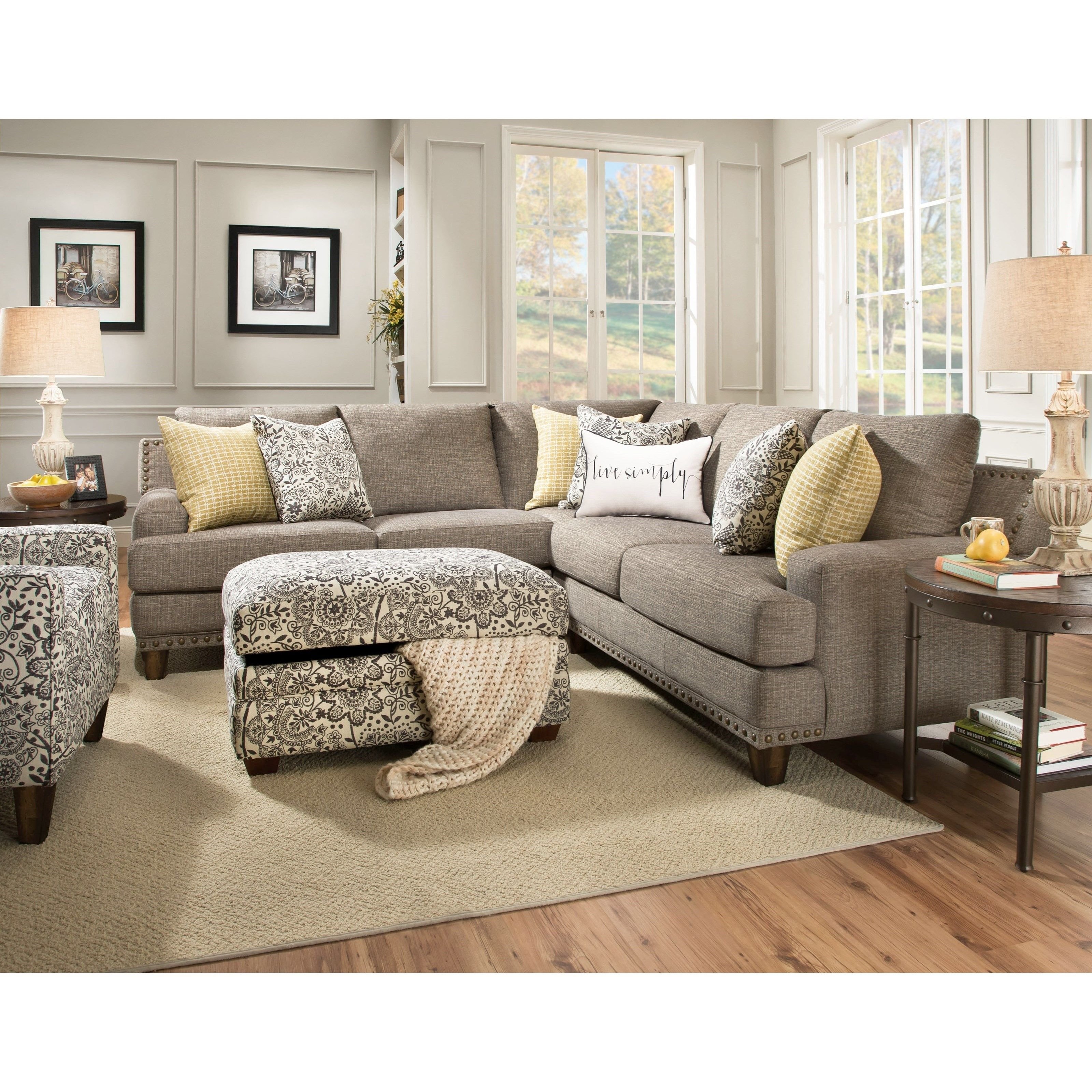 Hillary Sectional Sofa With Four Seats By Franklin In 2020