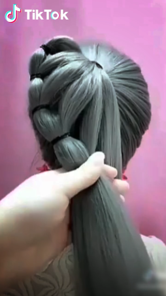 Super Easy To Try A New Hairstyle Download Tiktok Today To Find More Hairstyle Videos Also You Can Post Videos To Hair Styles Long Hair Styles Hair Videos