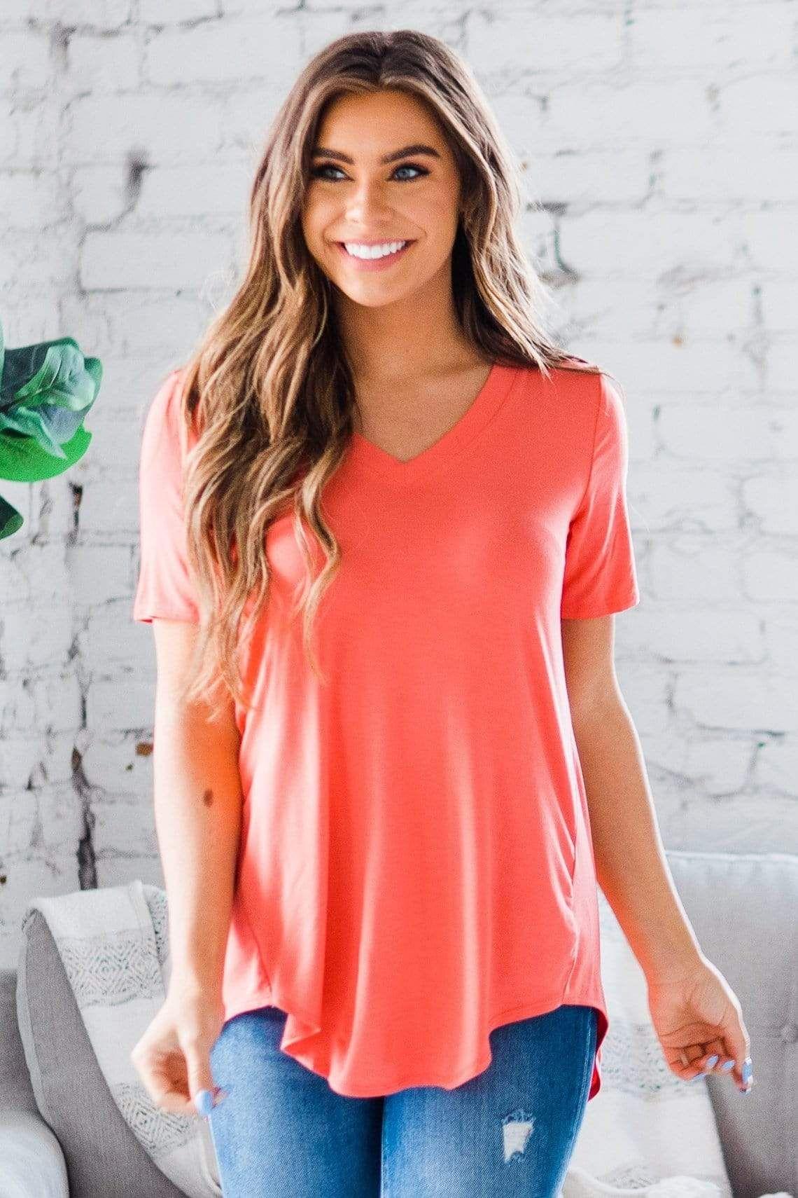 women's v neck tee shirts