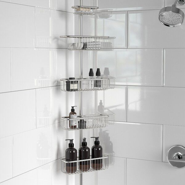Delia Ultra Constant Tension Bathroom Shower Caddy