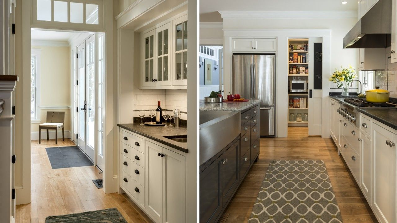 Stonewall Farmhouse Greater Portland Maine Whitten Architects Farmhouse Kitchen Cabinets Kitchen Pantry