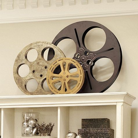 Movie Reel Wall Decor love it! old film reels for art and picture frames. i would hang