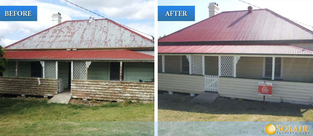 Solair Property Care Before And After Roof Restoration And Exterior Painting Roof Restoration Roof Paint Exterior Paint