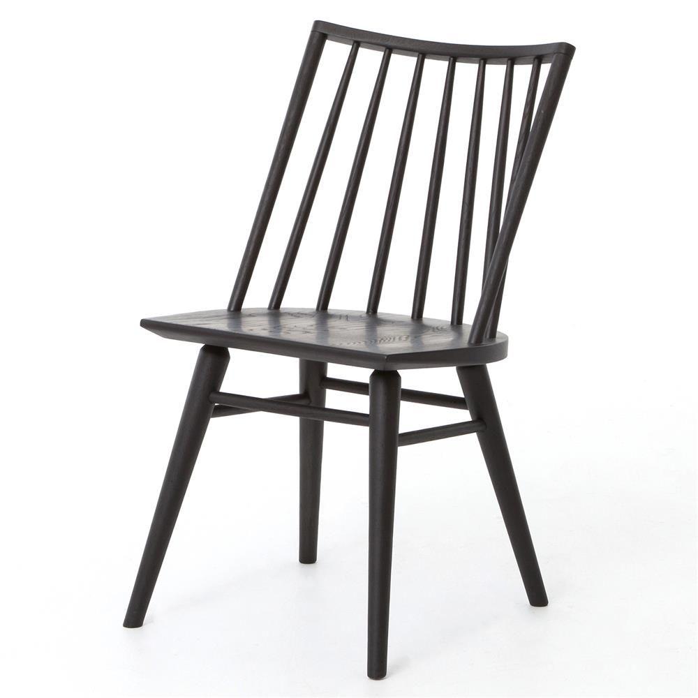 Lara Modern Classic Black Oak Simple Dining Chair Windsor Dining