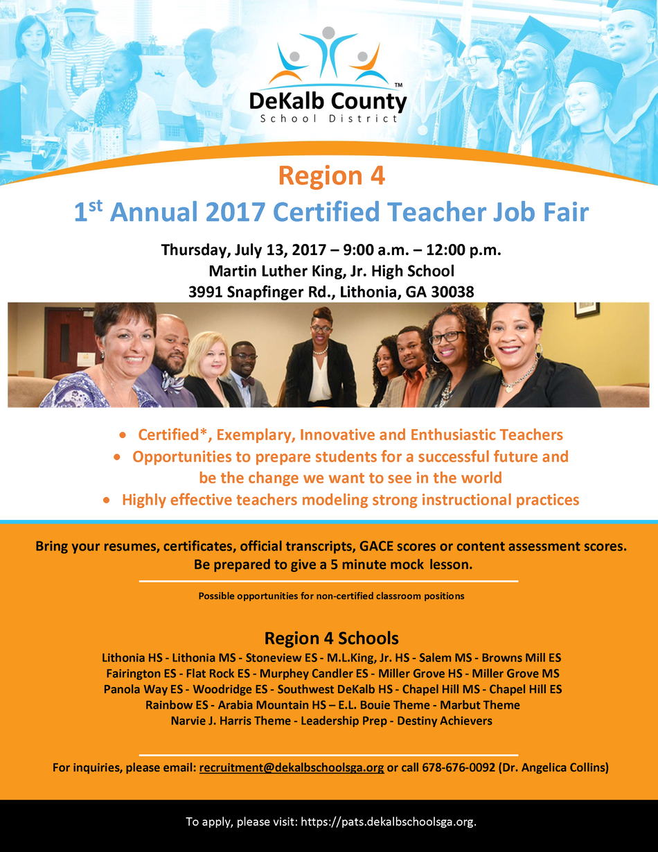 Dekalb County Region 4 Job Fair July 13, 2017