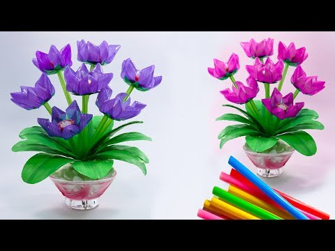 Bunga Sedotan Plastik Hiasan Meja Minimalis Pretty Flower Ideas Youtube Tutorial Bunga Kertas Bunga Kertas Hiasan Meja