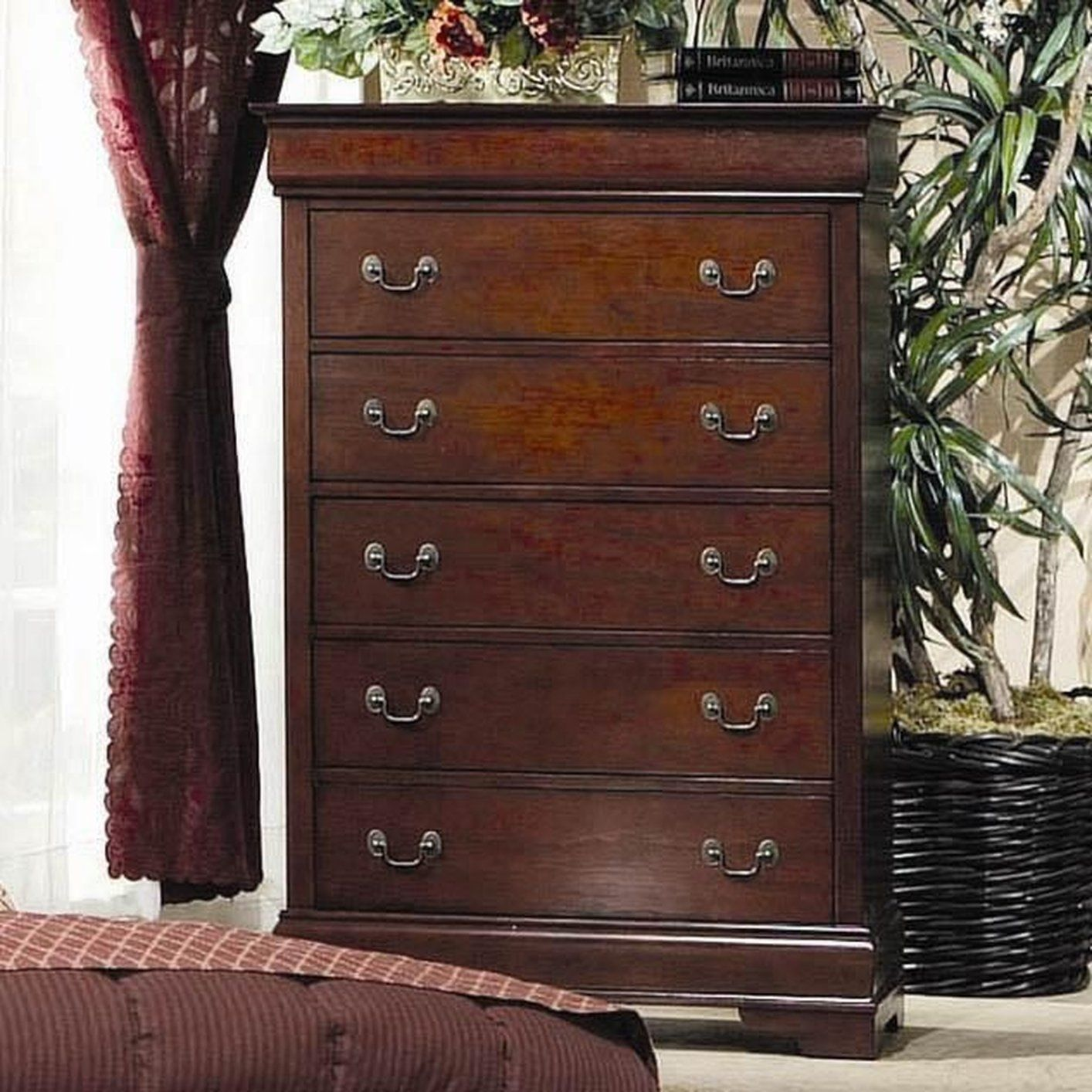 5 Drawer Chest Cherry Coasterfurnituredrawers