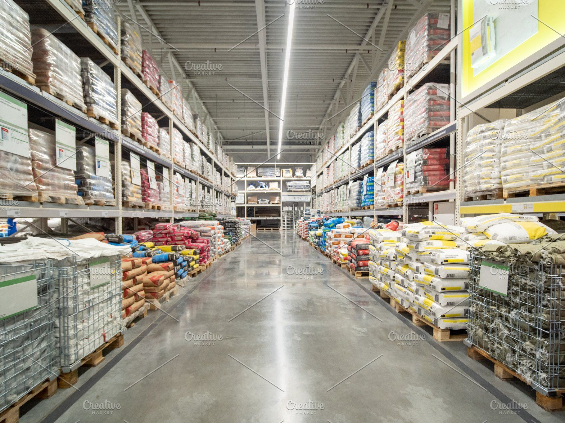 Warehouse Of Building Materials In