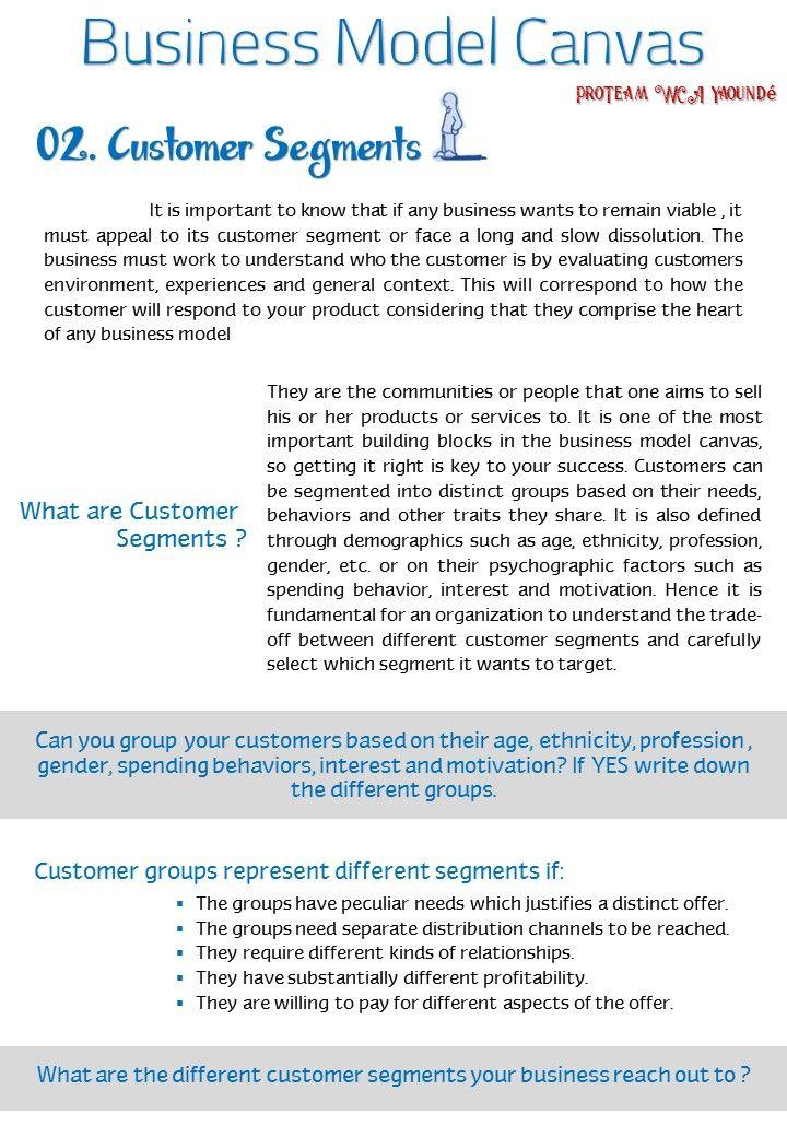 Business Model Canvas Customer Segments 1 Rc Business Model