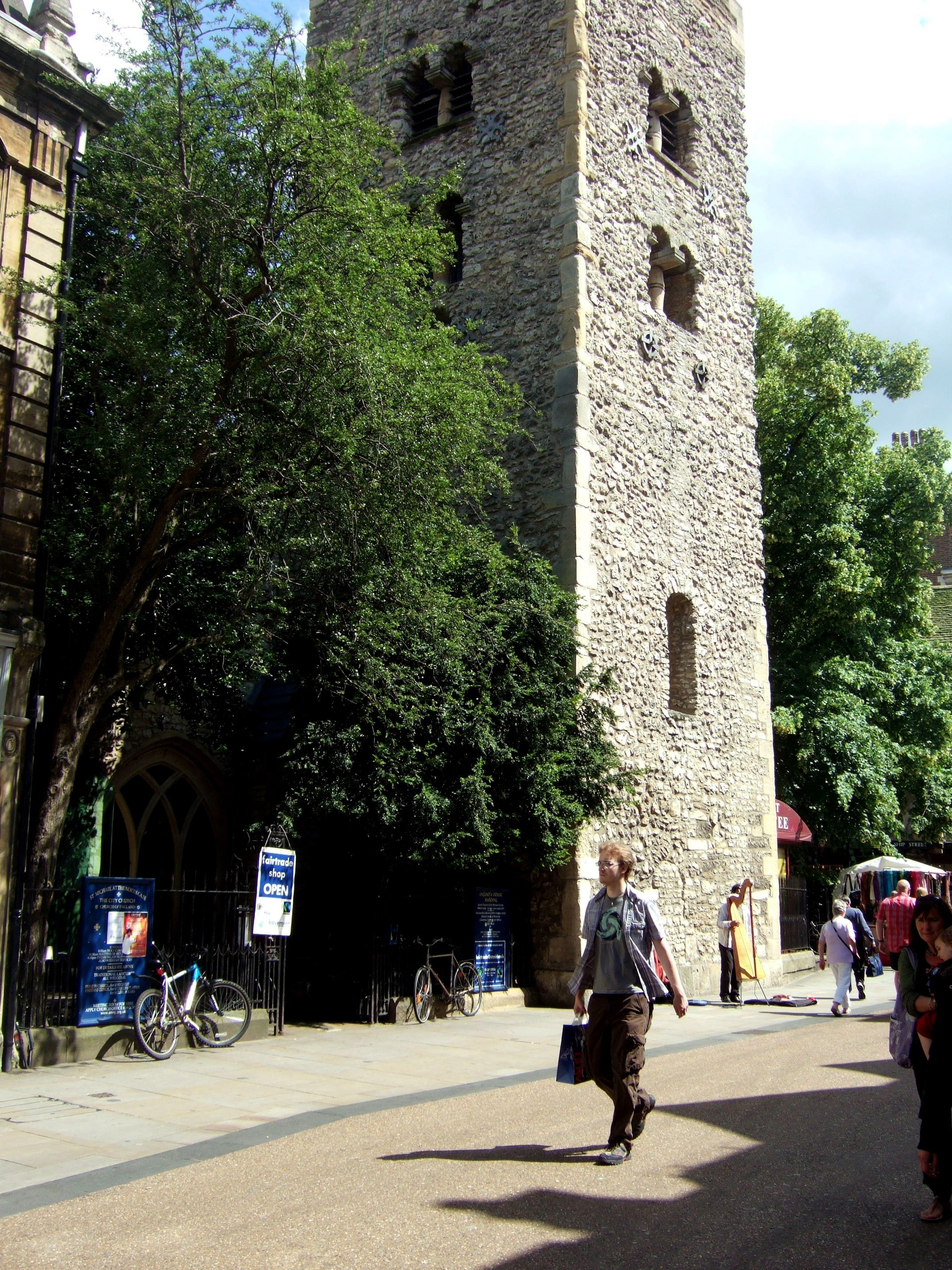The Saxton Tower, built in 1040, is the oldest building in