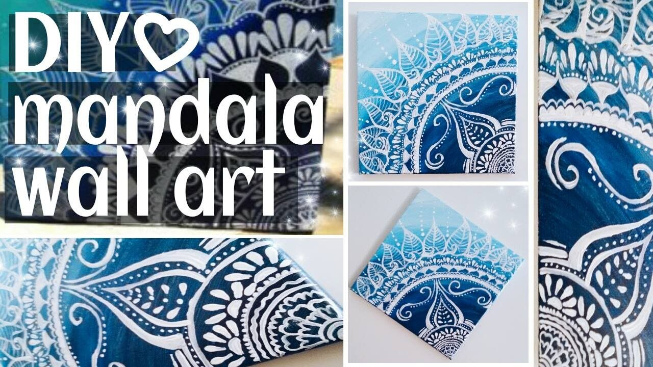 DIY. Mandala wall art / Summer room decor!