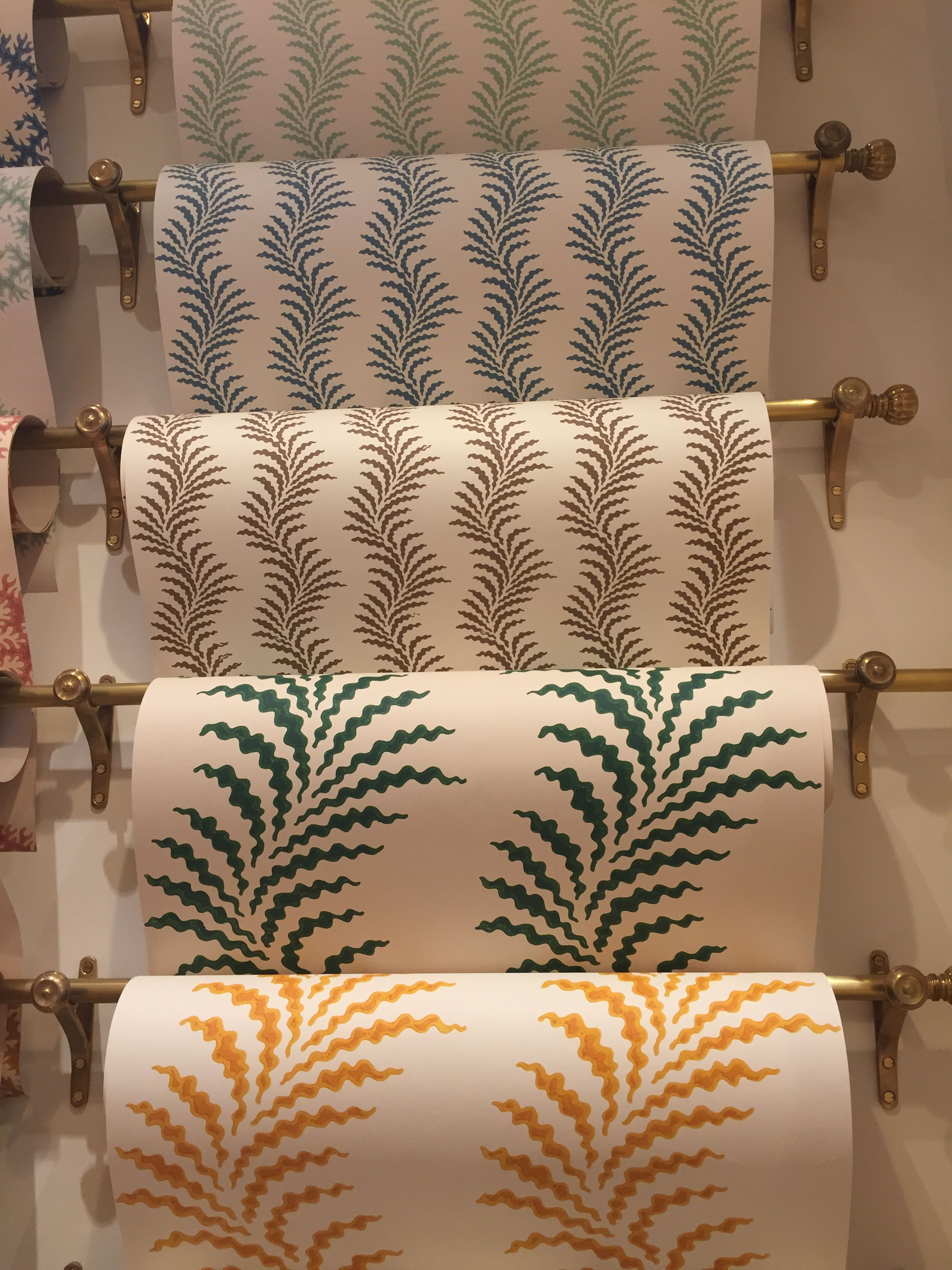 Soane Britain's Scrolling Fern Frond wallpaper with smaller scaled