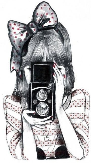 37 Girl with camera ideas | girls with cameras, cute drawings, girl drawing