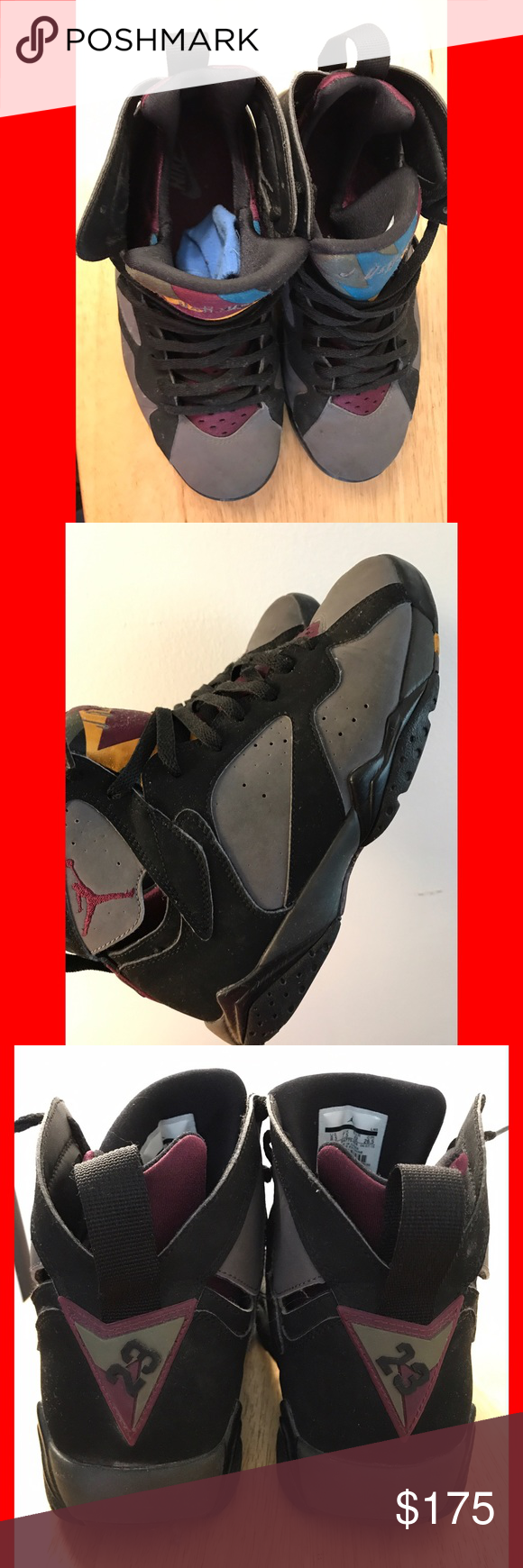 Air Jordan Retro 7 Bordeaux Size 8.5 in great condition, no flaws just needs some cleaning. ✨ALL MY SNEAKERS ARE AUTHENTIC✨ Jordan Shoes Sneakers
