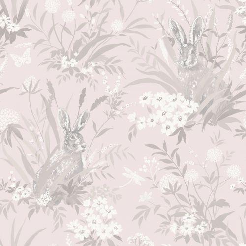 Aayla Hares Wallpaper Pink Holden 90880 Grey wallpaper