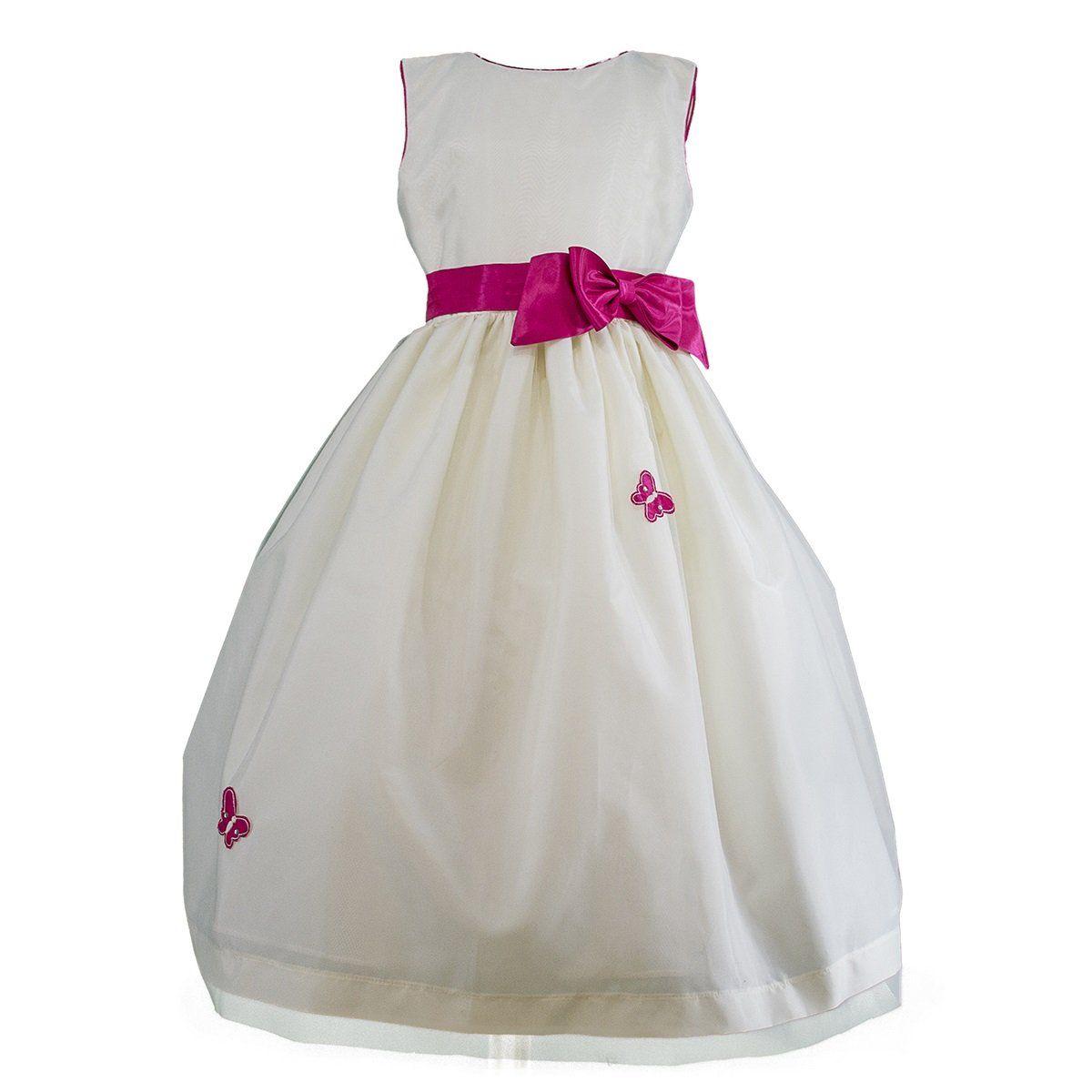 fbfb8853a3 Vestido blanco con Mariposas Gerat