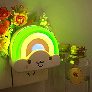 Led Baby Night Light Oxyled Kids Bedside Night Lamp Rainbow Toddler Nightlight With Voice Light Sensor Night Light Kids Toddler Night Light Baby Night Light