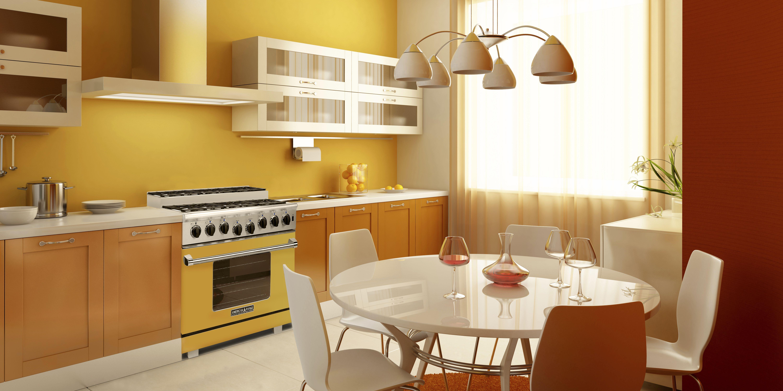 sunny yellow american range oven door kitchen wallpaper design modern kitchen wallpaper on kitchen remodel yellow walls id=11471