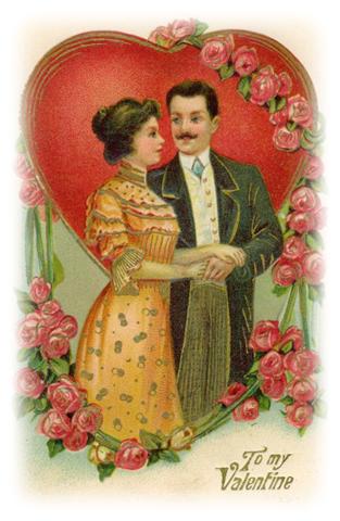 free Victorian couple valentine clip art Vintage Valentine