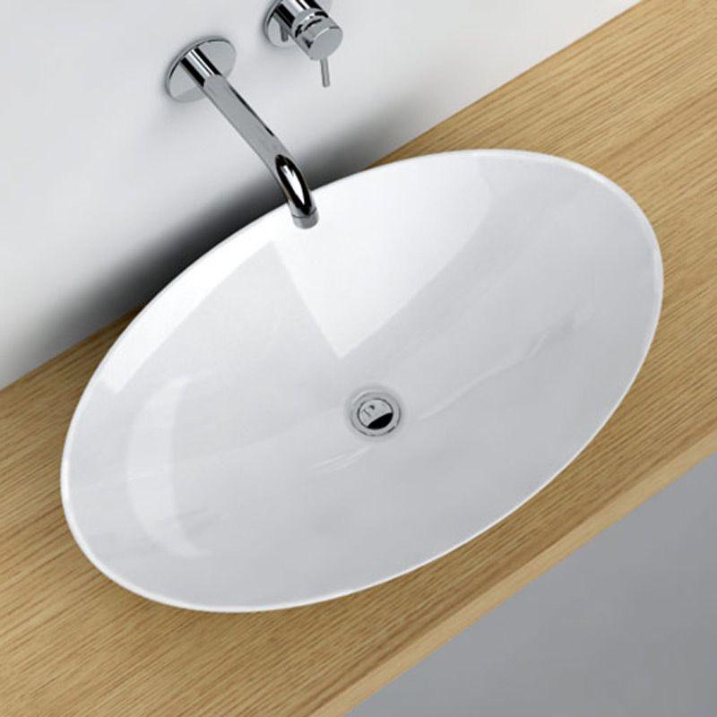 vasque poser ovale 68x43 cm c ramique pure salle de bain pinterest vasque d coration. Black Bedroom Furniture Sets. Home Design Ideas