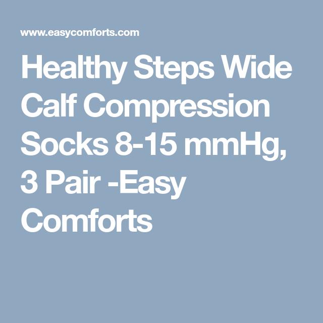 e96e9024a0 Healthy Steps Wide Calf Compression Socks 8-15 mmHg, 3 Pair -Easy Comforts