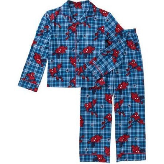 NWT Boy/'s Sz 4-5 Batman Flannel Pajamas NEW