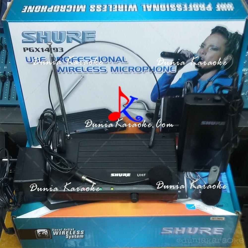 Wireless Condenser Microphone Shure Pgx 14 93 Duniakaraokecom Clip On Mini Jepit