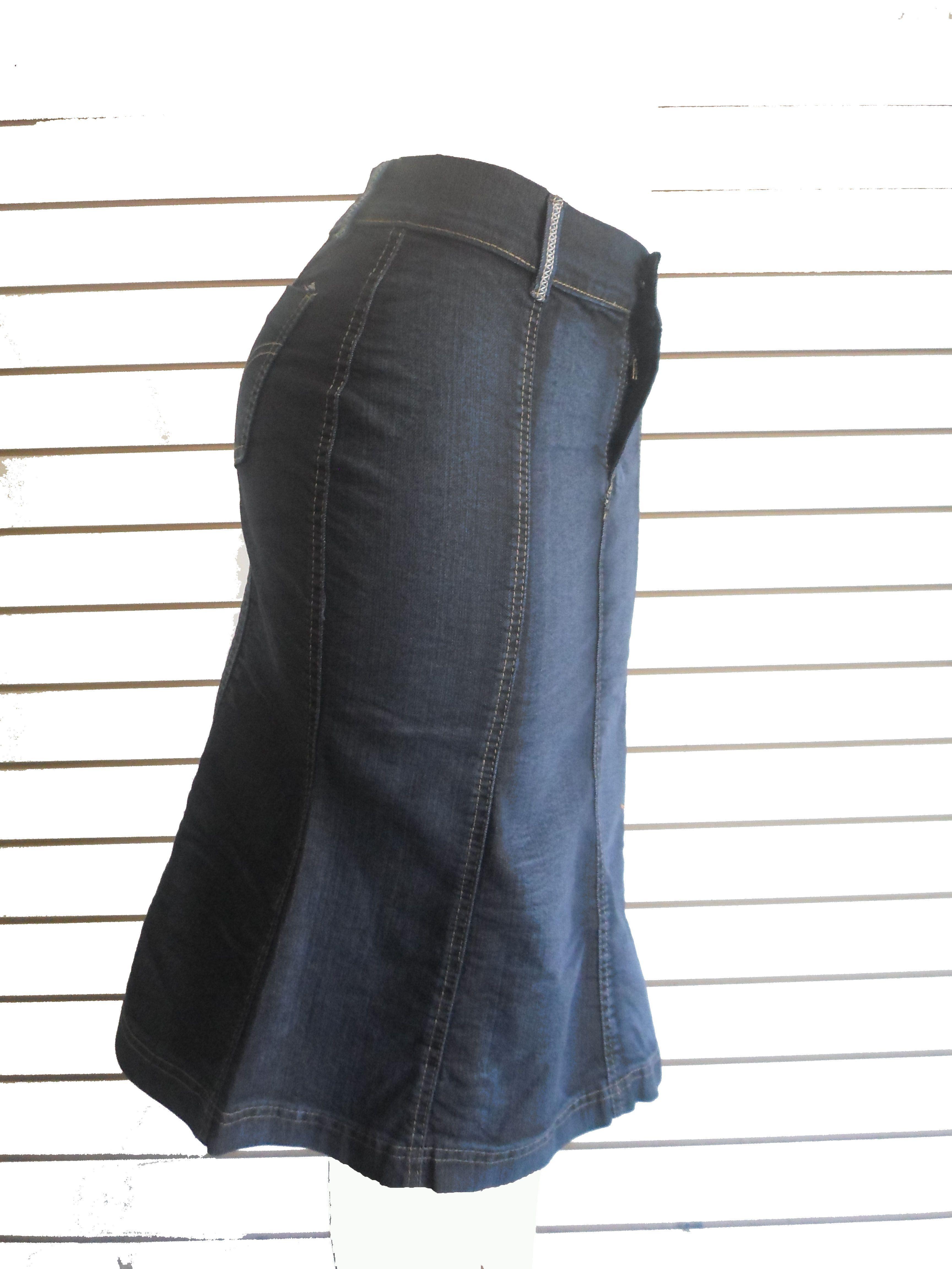 ff910402e5 falda dama en tela jeans stress quedan solo unidades tallas de la 8 a la 14