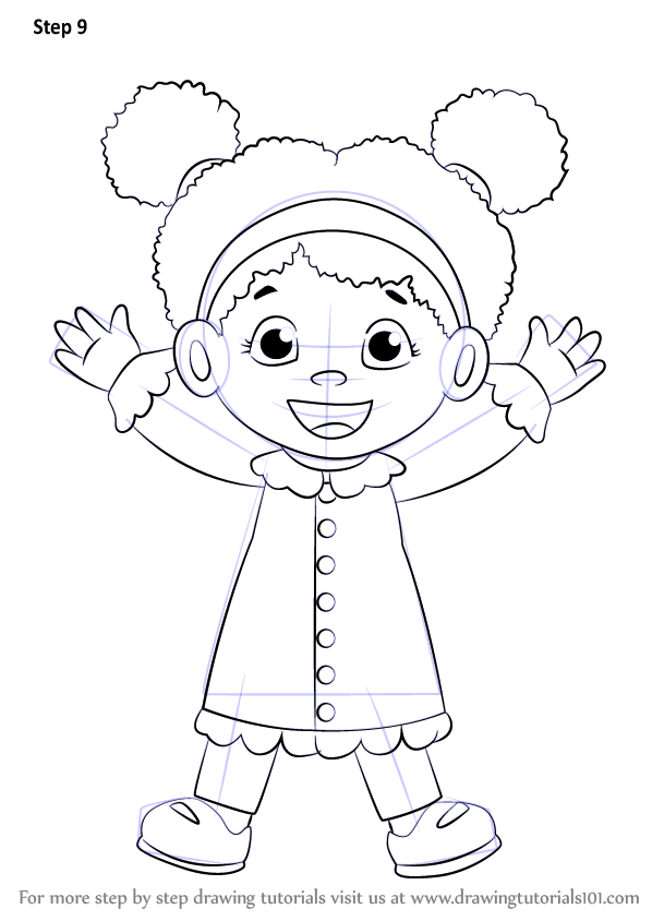step by step how to draw miss elaina from daniel tiger s