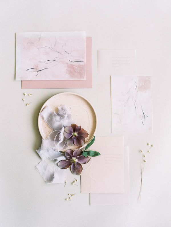 Lilac Peach Make An Unbelievably Pretty Color Palette Wedding Impressive Stil Des Invitation De Mariage