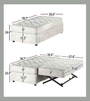 New Xl Twin Trundle Bed Deco Pop Up Trundle Combo Upholstered Bed
