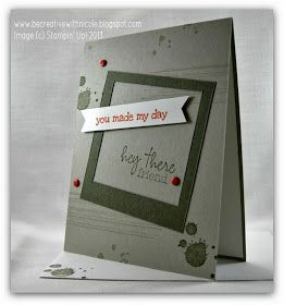 Be Creative with Nicole: A Grunge Card for CCMC278