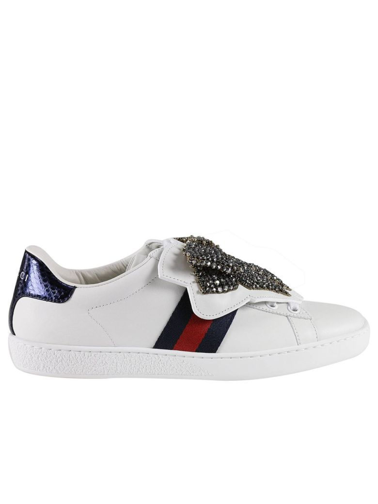 610f01457a Pin by ModeSens on Gucci | Gucci shoes, Leather sneakers, Gucci