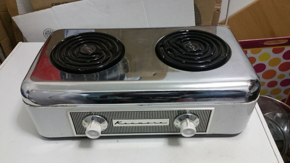 Find Many Great New Used Options And Get The Best Deals For Vintage Kenmore Electric Counter Top Double Burner H Hot Plate Hot Plates For Cooking Cooker Hobs