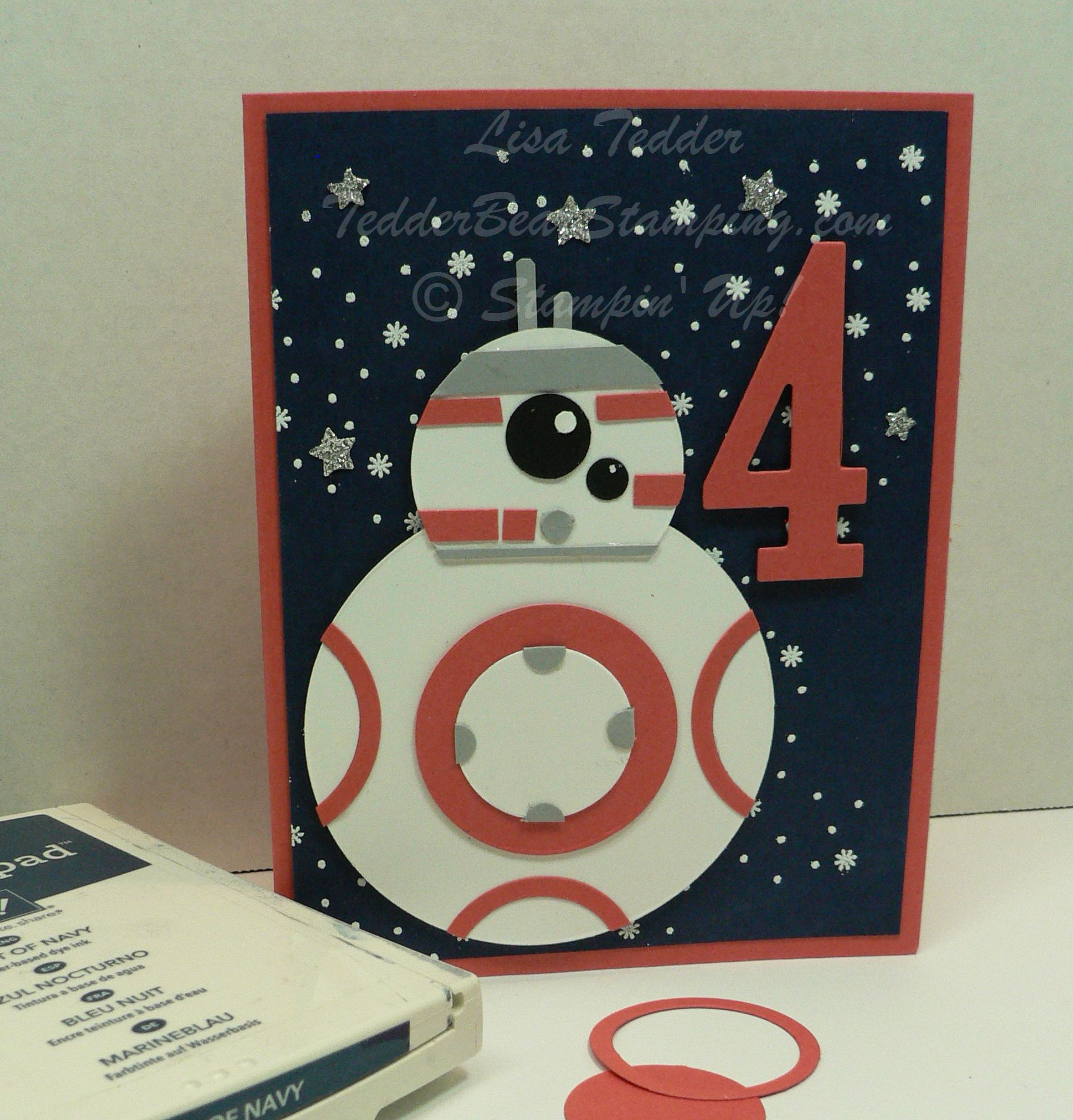Star wars handmade birthday card plus blog candy clever crafts