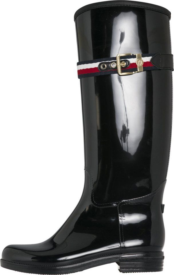 more photos f45f9 8640f Tommy Hilfiger Boots »CORPORATE BELT LONG RAIN BOOT« in 2019 ...