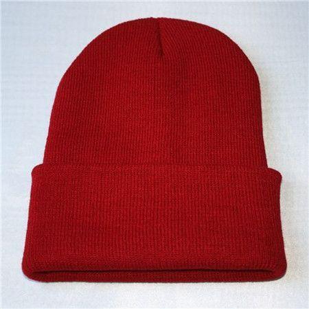 Winter Unisex Knitting Hat Cap Female Beanie Women Men Elastic edging Hats