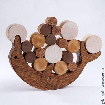 Educational wooden toy / Развивающие игрушки ручной работы. Ярмарка Мастеров - ручная работа. Купить Балансир Дельфин. Handmade. Развивающая игрушка, дельфин, равновесие