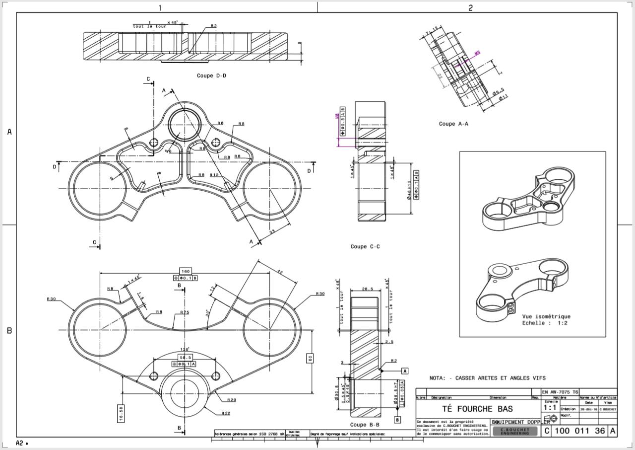 Tés de fourche C. Bouchet Engineering