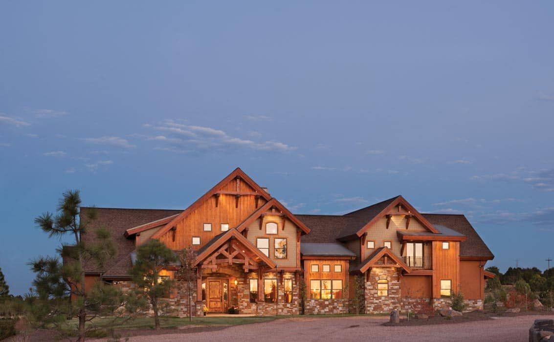 This impressive Arizona timber home has some amazing