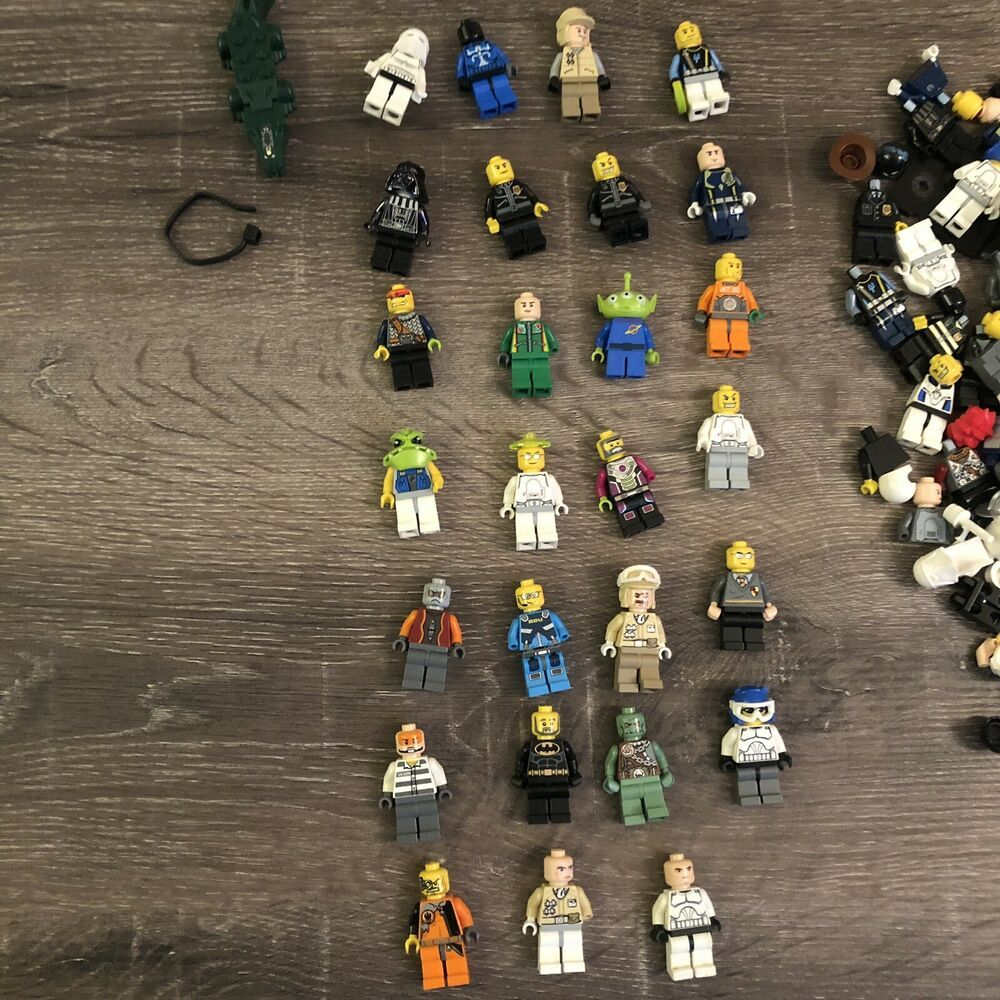 LEGO LOT OF 5 NEW FEMALE MINIFIGURES TWO FACED DUAL FACE PIECES PARTS FIGURES