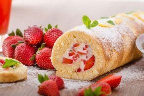 Omas Erdbeerroulade - Rezept