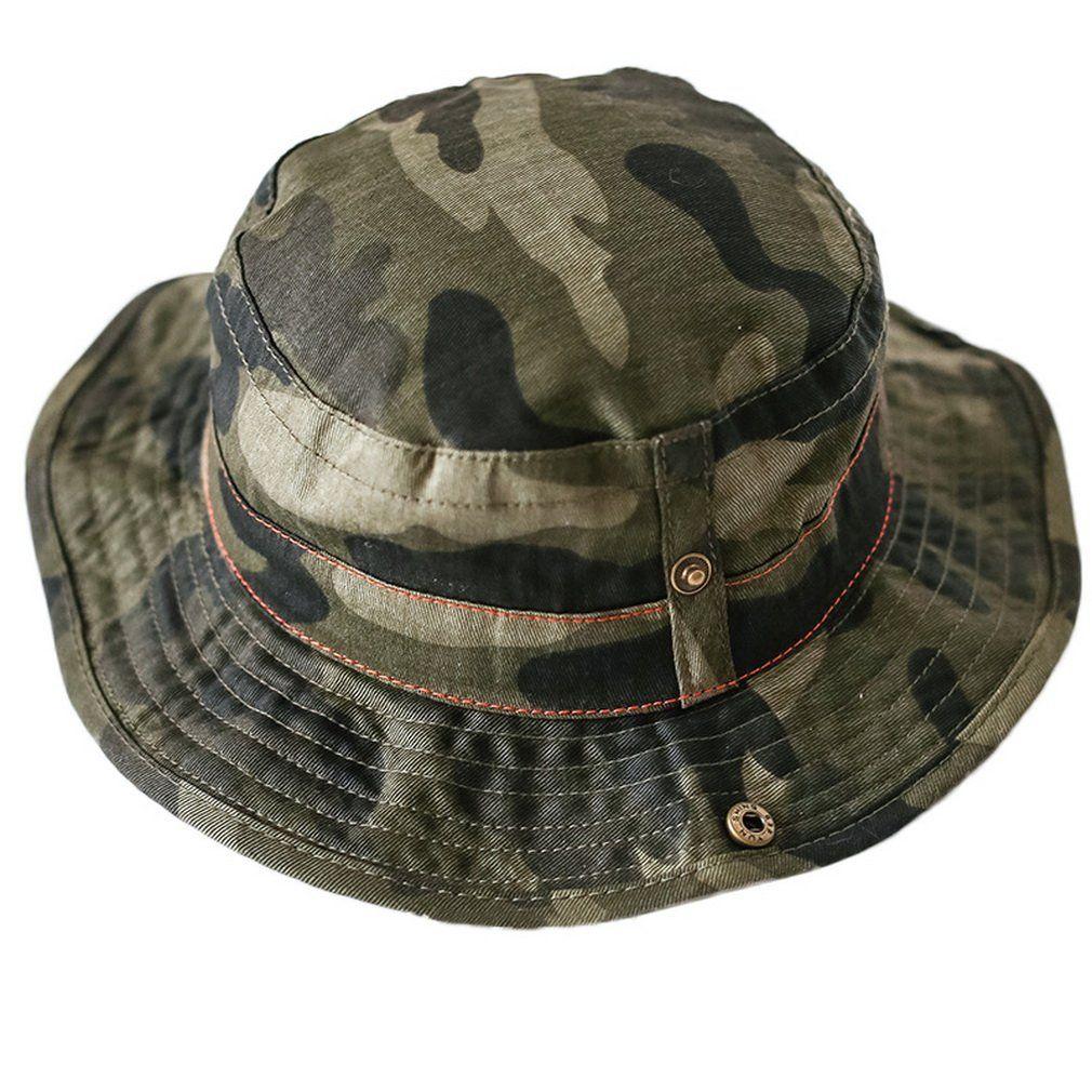 57a7dd0e4cb Smile YKK Kid Girl Boy Camouflage Wide Brim Hat Travel Hat Sun Hat Cloche Hat  Bucket