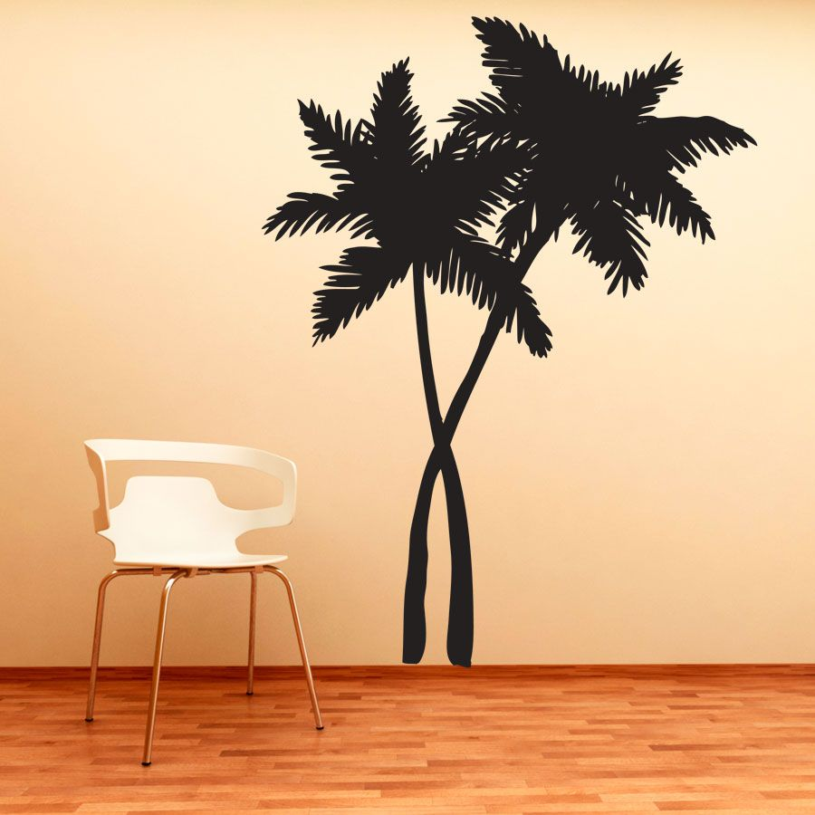 This Swaying Palm Trees Wall Decal will give any room the feeling of ...