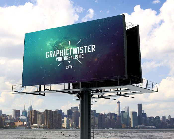Billboard Mockup With Separated Background Billboard Mockup Mockup Free Psd Billboard Design
