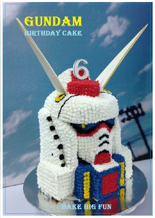 Gundam Cake Is Mango Buttercake With Buttercream Icing Fabulous